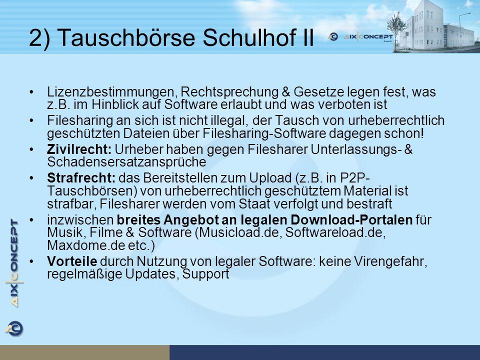 2) Tauschbörse Schulhof II