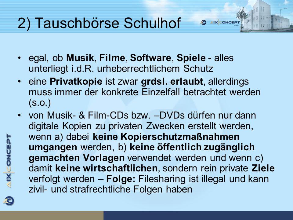 2) Tauschbörse Schulhof