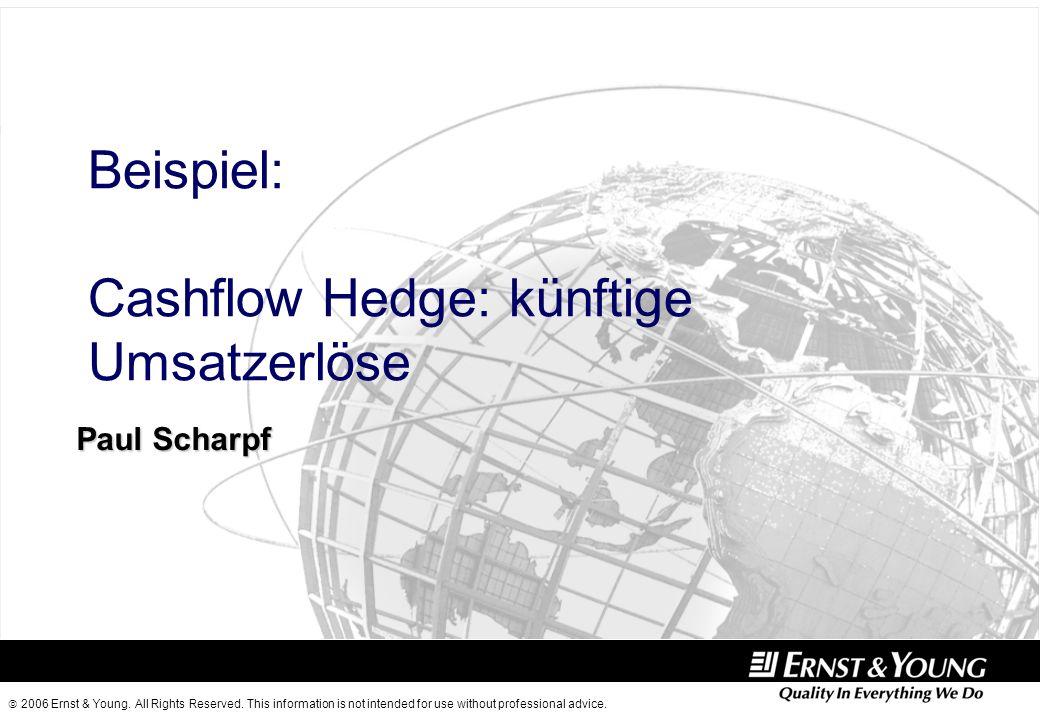 Beispiel: Cashflow Hedge: künftige Umsatzerlöse