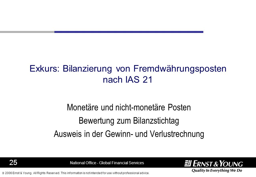 Exkurs: Bilanzierung von Fremdwährungsposten nach IAS 21