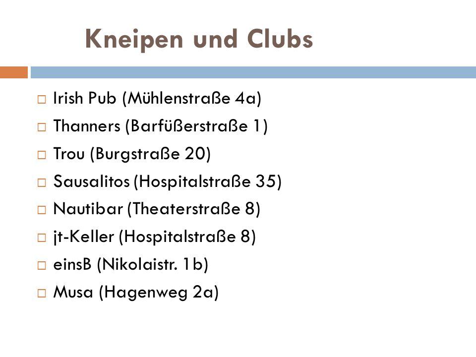 Kneipen und Clubs Irish Pub (Mühlenstraße 4a)