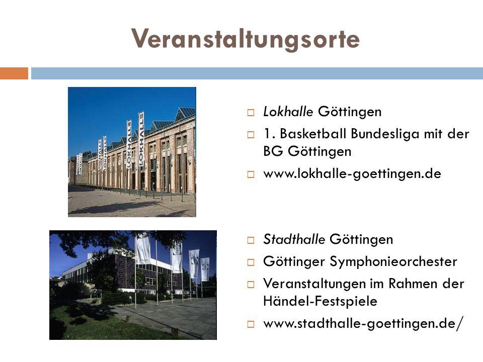 Veranstaltungsorte Lokhalle Göttingen