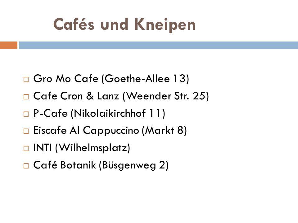 Cafés und Kneipen Gro Mo Cafe (Goethe-Allee 13)