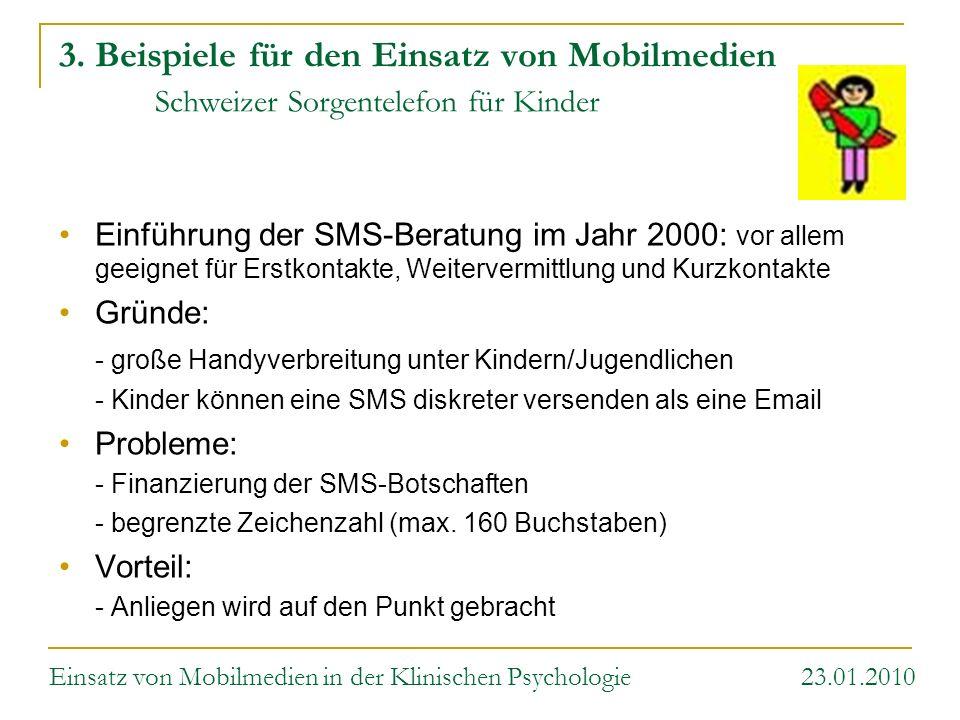 3. Beispiele für den Einsatz von Mobilmedien