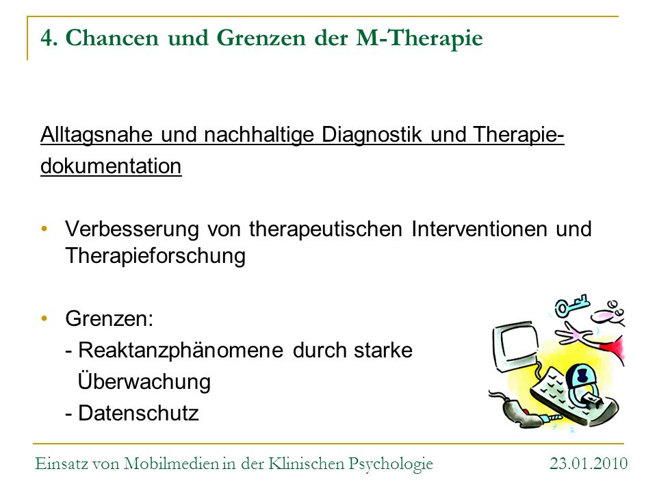 4. Chancen und Grenzen der M-Therapie