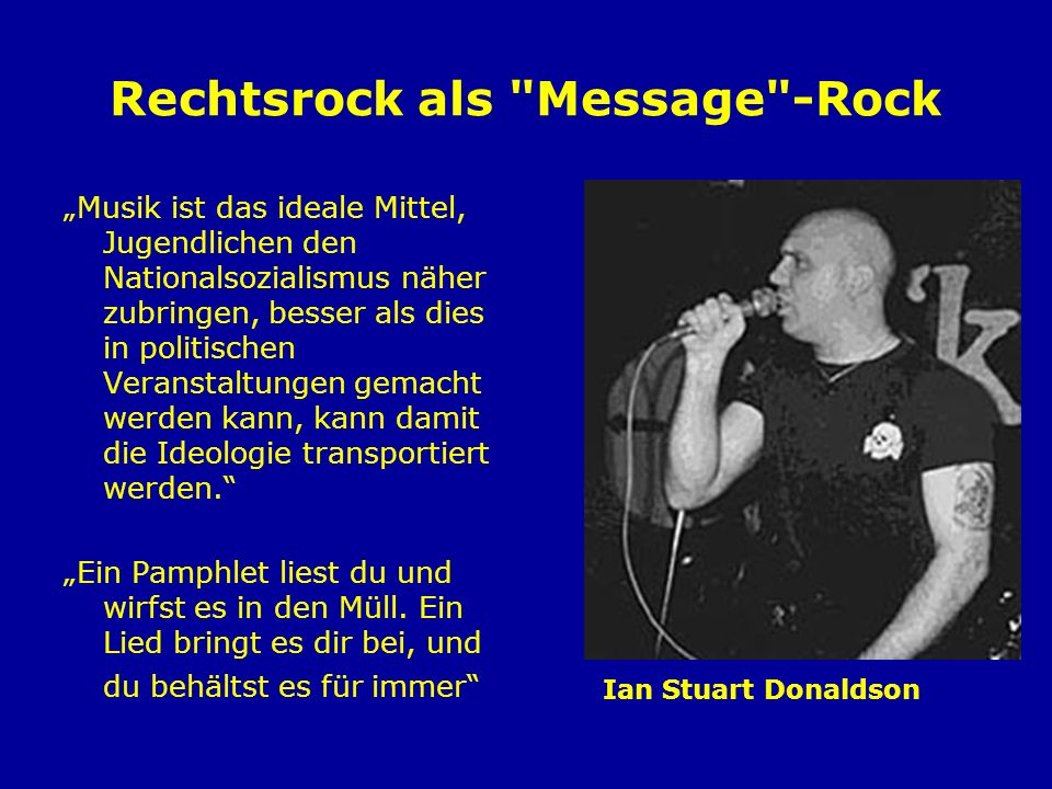 Rechtsrock als Message -Rock