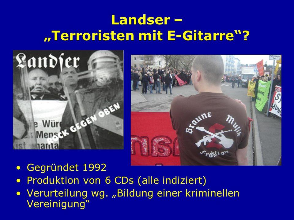 """Landser – """"Terroristen mit E-Gitarre"""