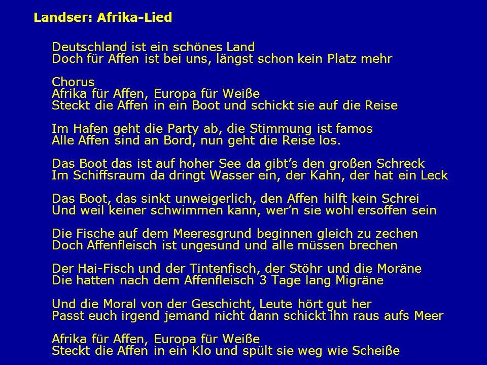 Landser: Afrika-Lied