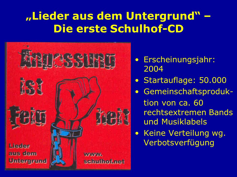 """""""Lieder aus dem Untergrund – Die erste Schulhof-CD"""