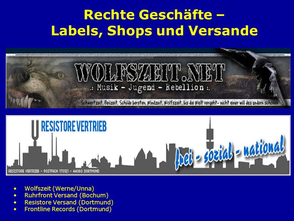 Rechte Geschäfte – Labels, Shops und Versande