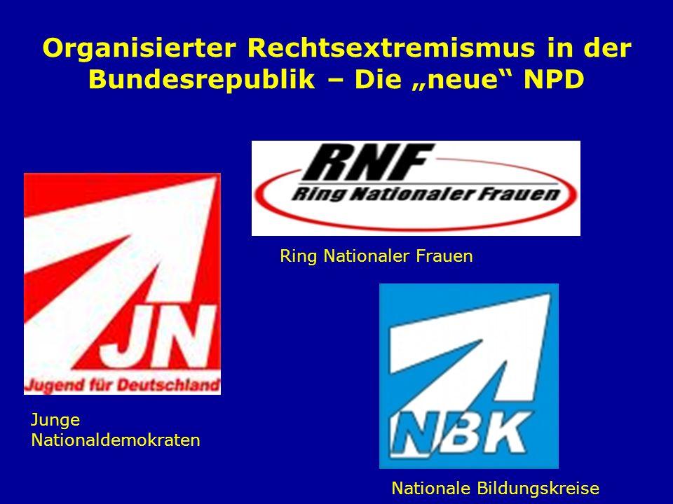 """Organisierter Rechtsextremismus in der Bundesrepublik – Die """"neue NPD"""