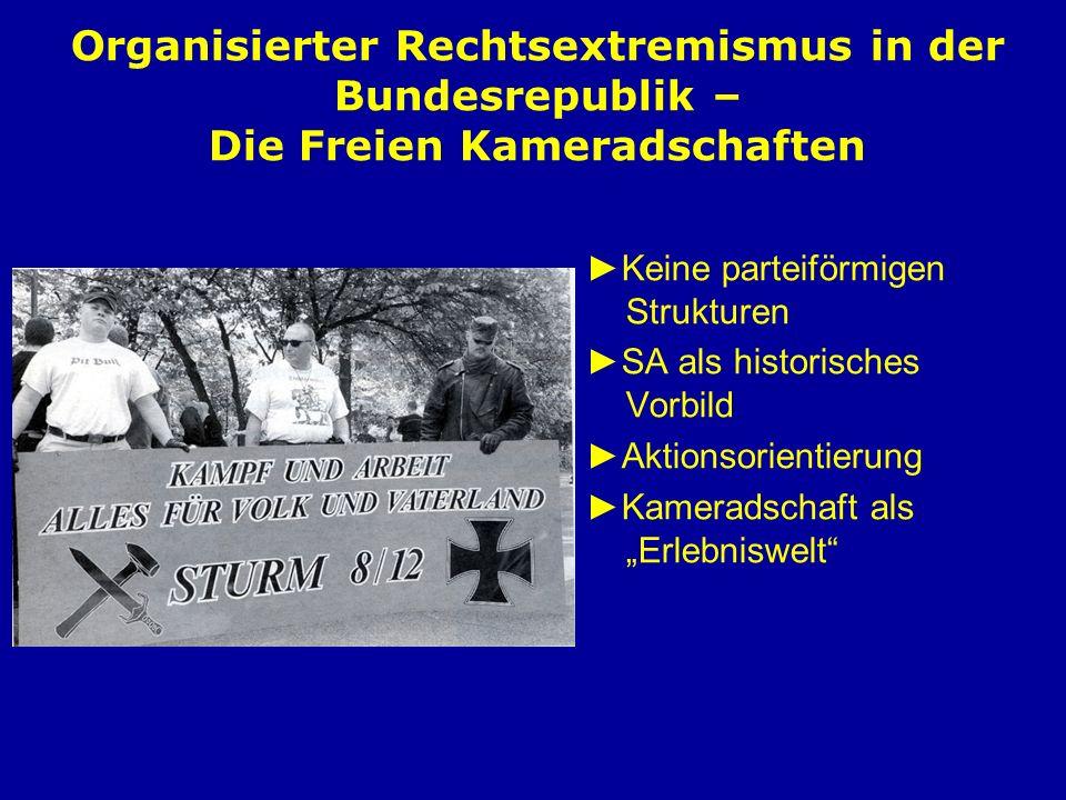 Organisierter Rechtsextremismus in der Bundesrepublik – Die Freien Kameradschaften