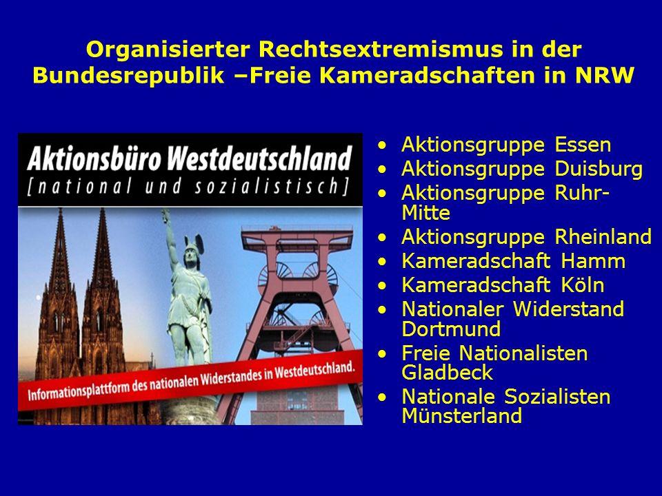Organisierter Rechtsextremismus in der Bundesrepublik –Freie Kameradschaften in NRW