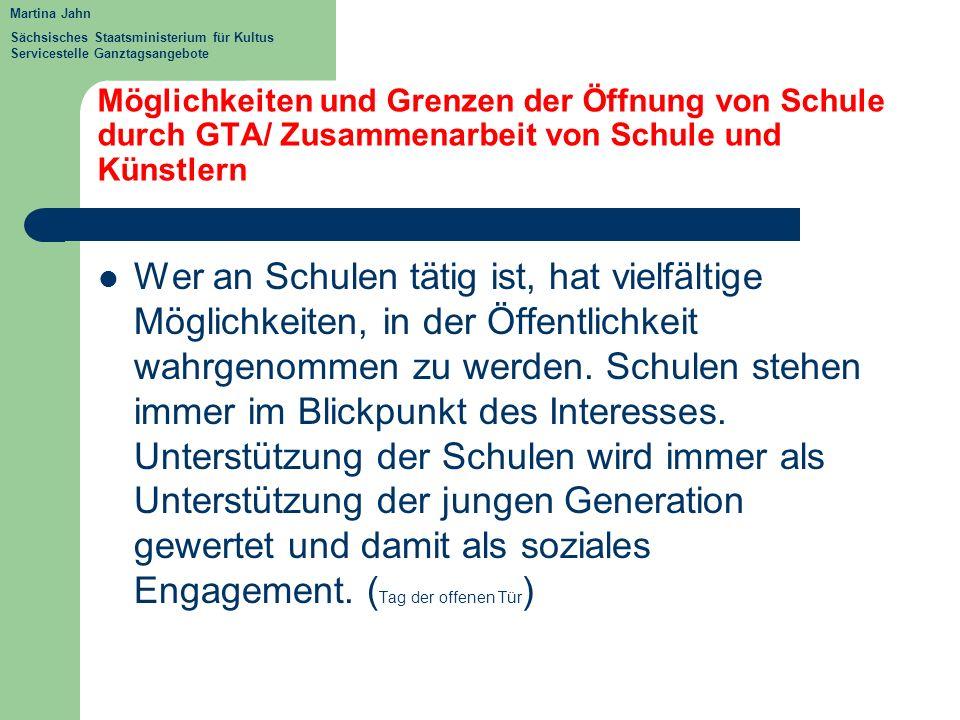 Martina Jahn Sächsisches Staatsministerium für Kultus Servicestelle Ganztagsangebote.