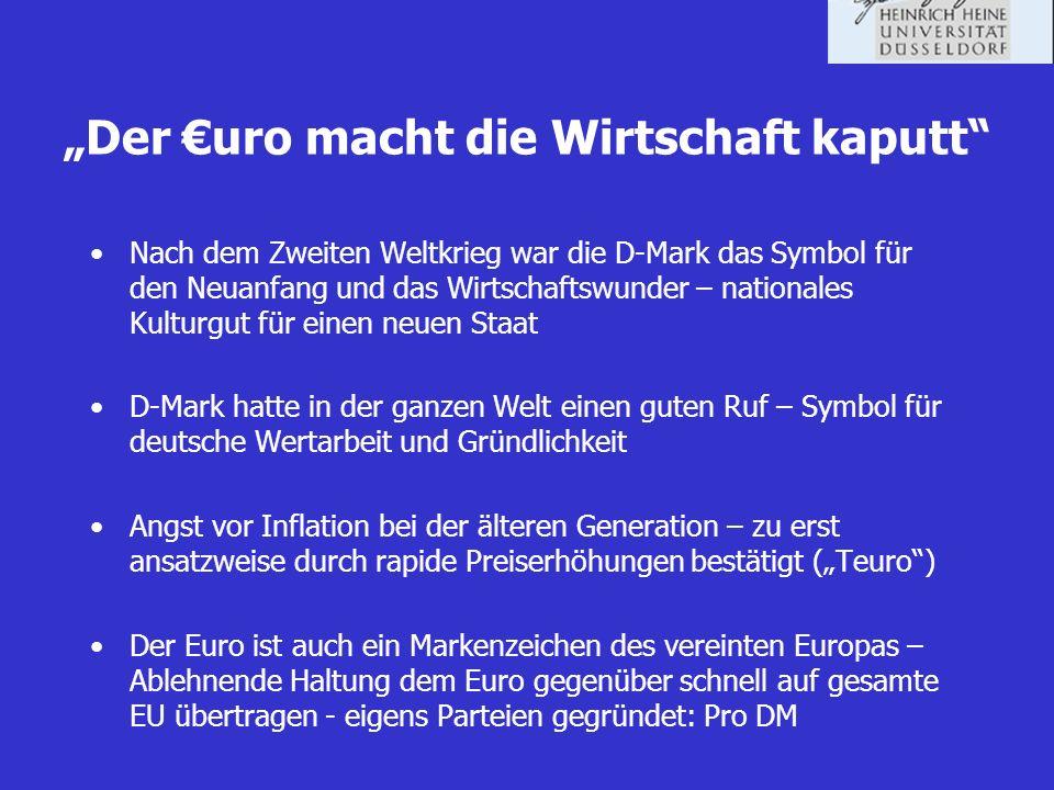 """""""Der €uro macht die Wirtschaft kaputt"""