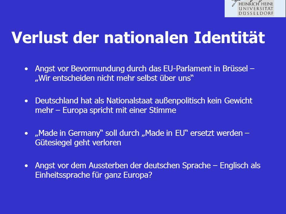 Verlust der nationalen Identität