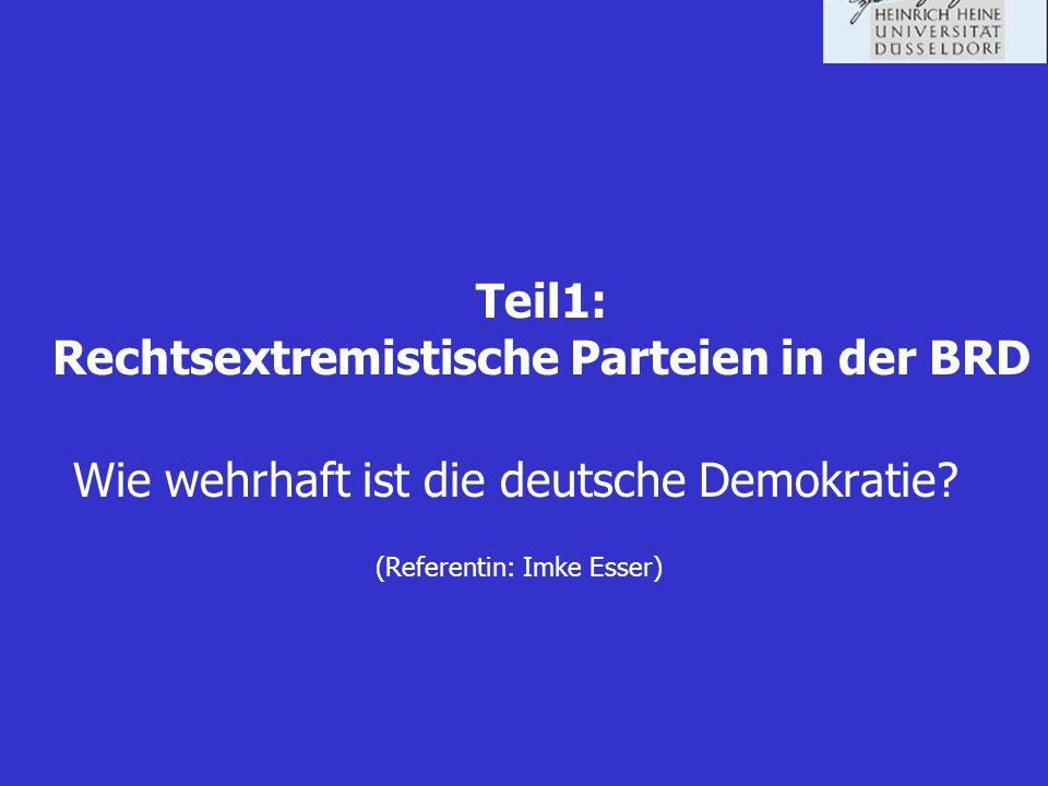 Teil1: Rechtsextremistische Parteien in der BRD