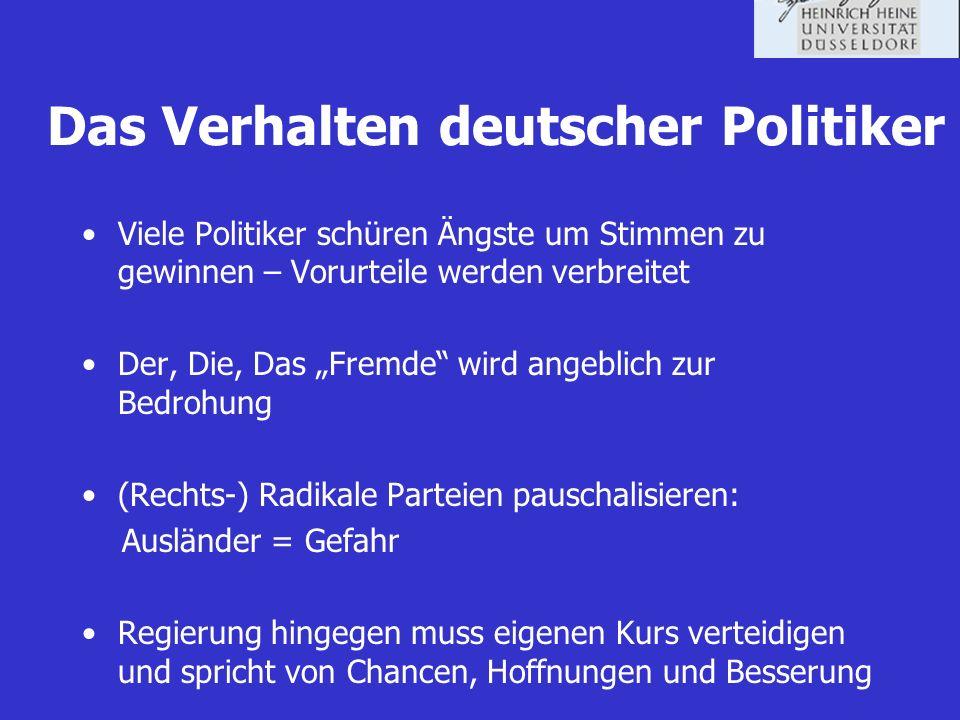 Das Verhalten deutscher Politiker