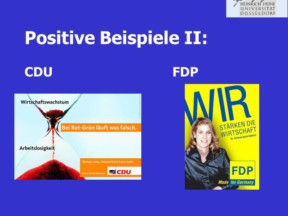 Positive Beispiele II: