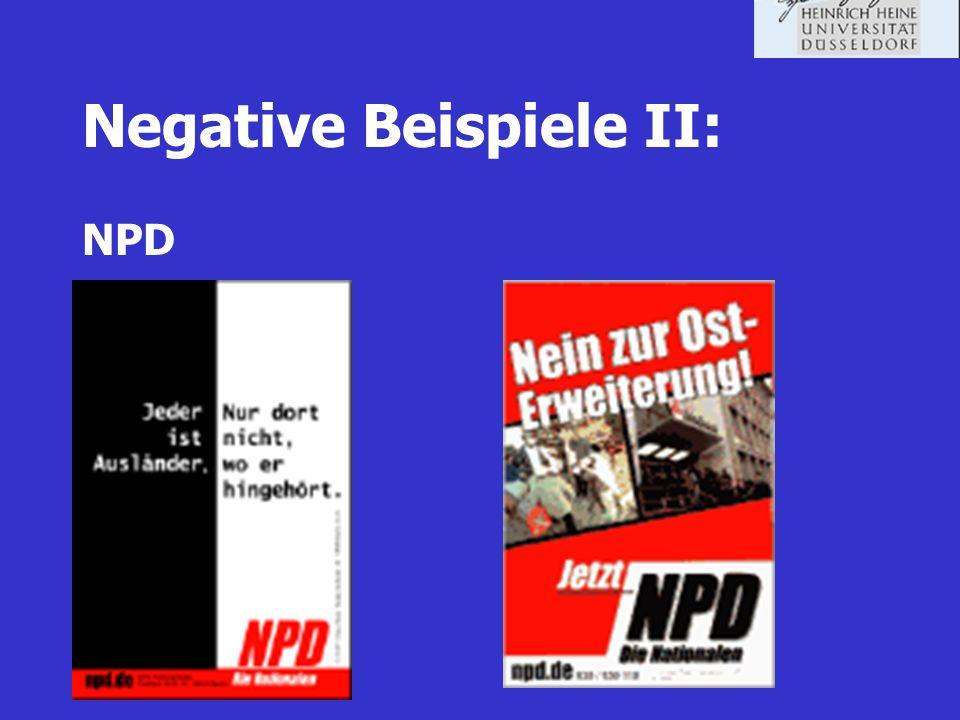 Negative Beispiele II: