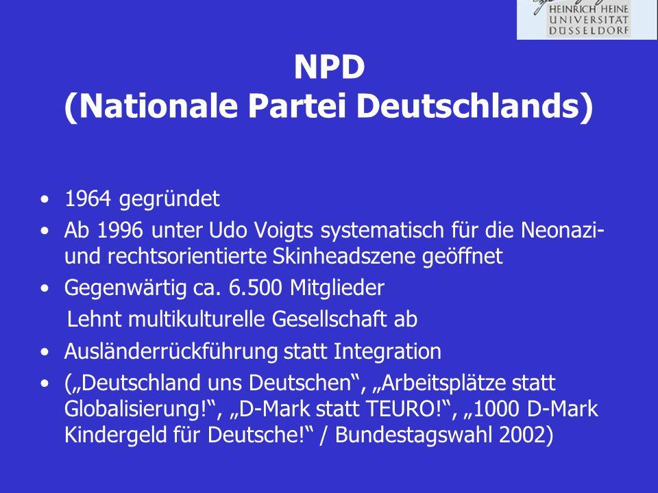 NPD (Nationale Partei Deutschlands)