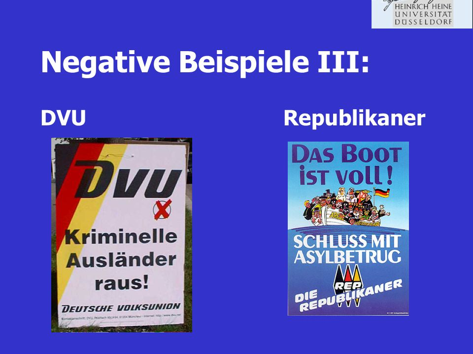 Negative Beispiele III:
