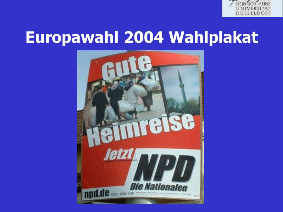 Europawahl 2004 Wahlplakat