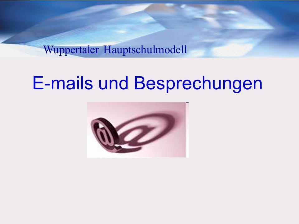 E-mails und Besprechungen
