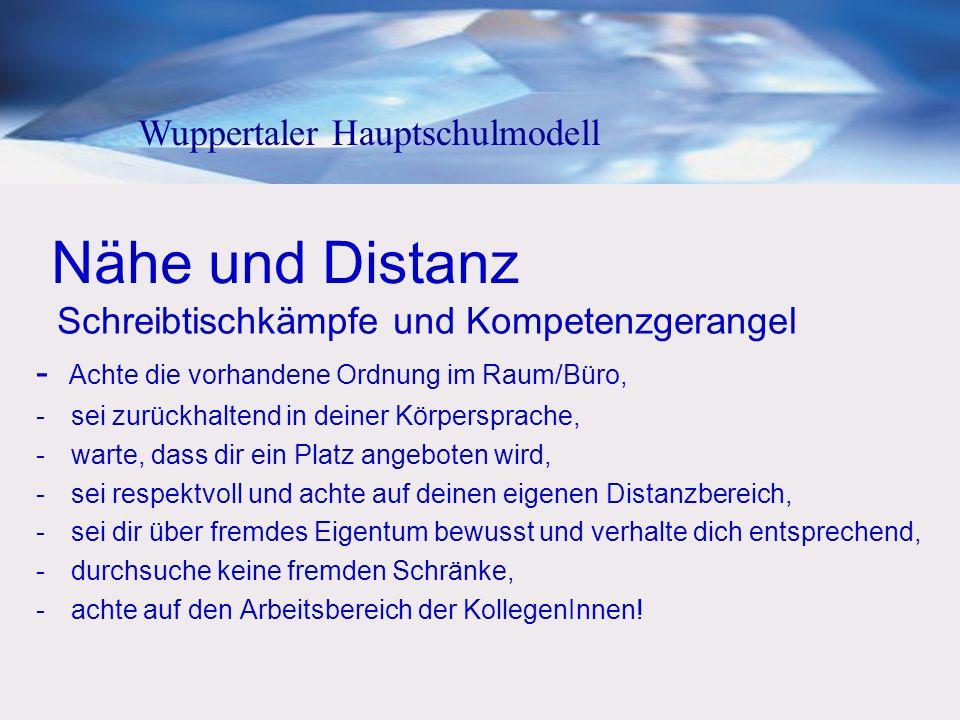 Nähe und Distanz Wuppertaler Hauptschulmodell