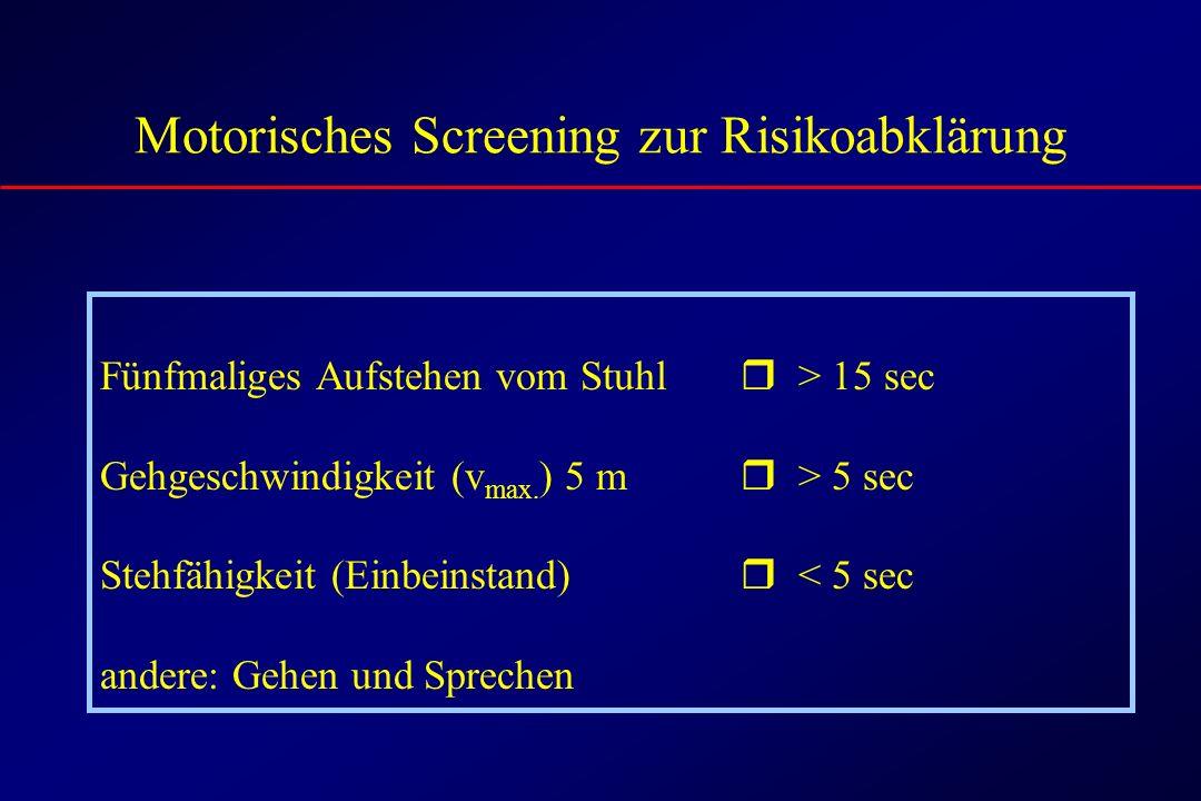Motorisches Screening zur Risikoabklärung