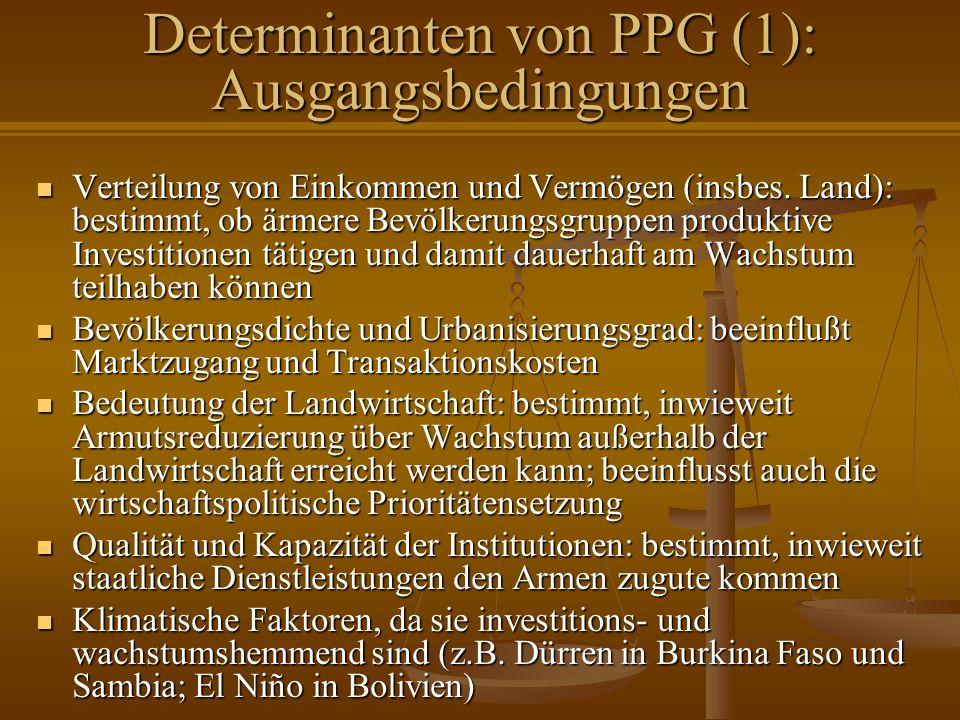 Determinanten von PPG (1): Ausgangsbedingungen