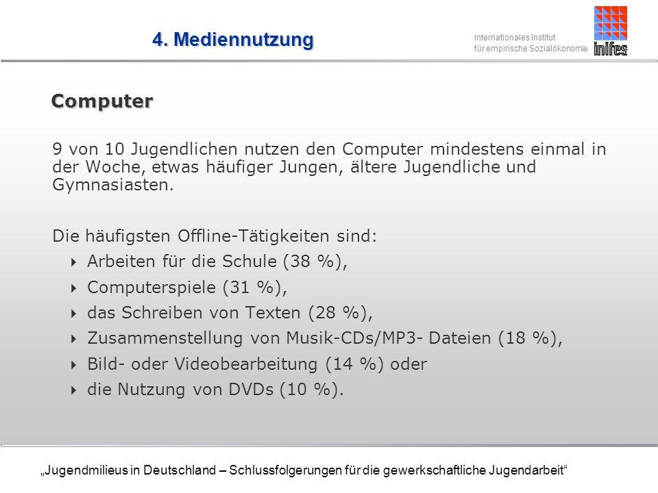 4. Mediennutzung Computer