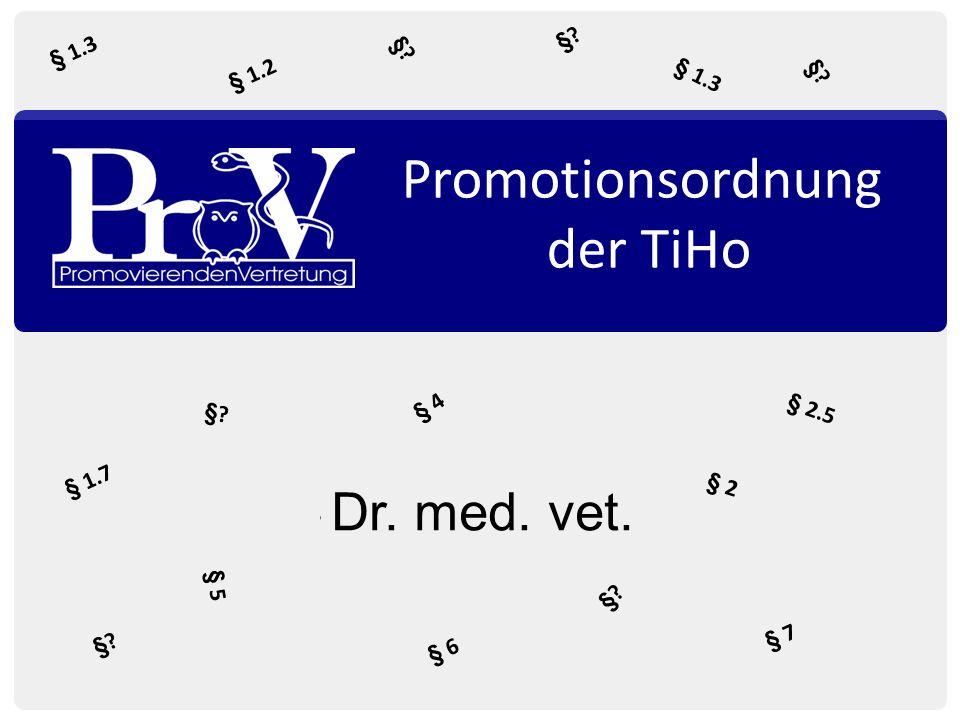Promotionsordnung der TiHo