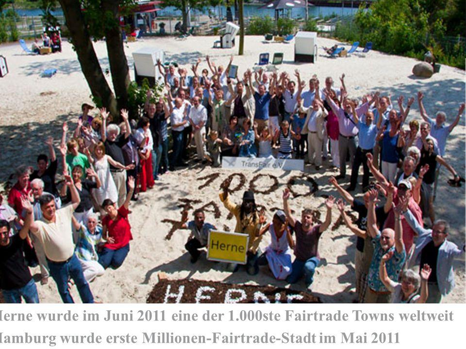 Herne wurde im Juni 2011 eine der 1.000ste Fairtrade Towns weltweit