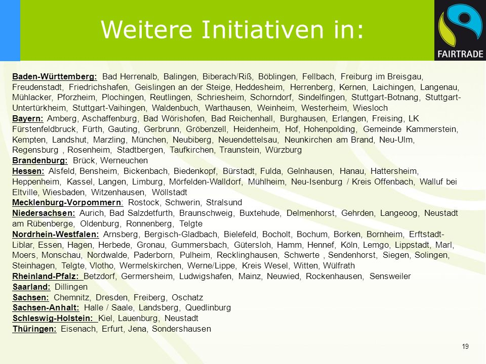 Weitere Initiativen in: