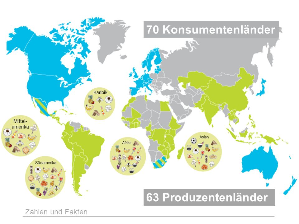 70 Konsumentenländer 63 Produzentenländer Zahlen und Fakten 6