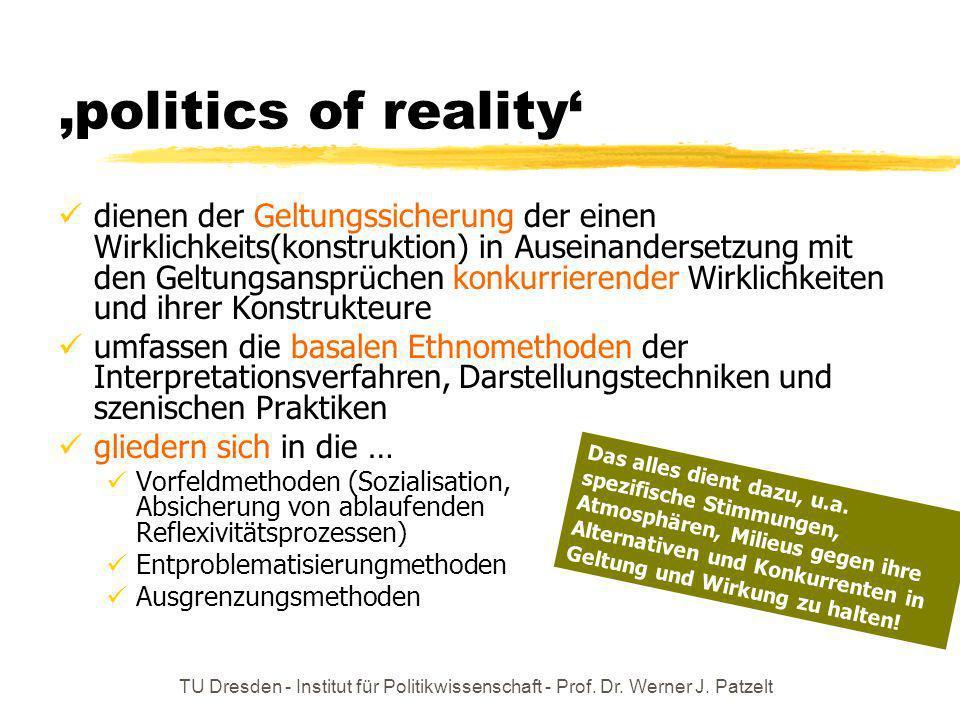 'politics of reality'