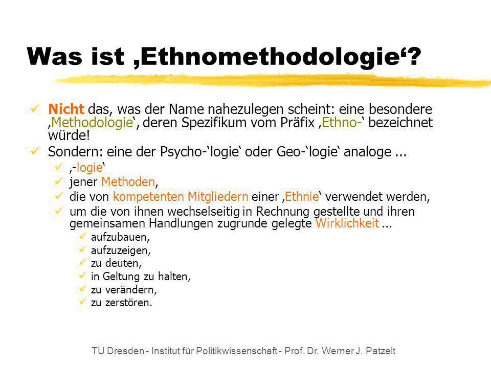 Was ist 'Ethnomethodologie'
