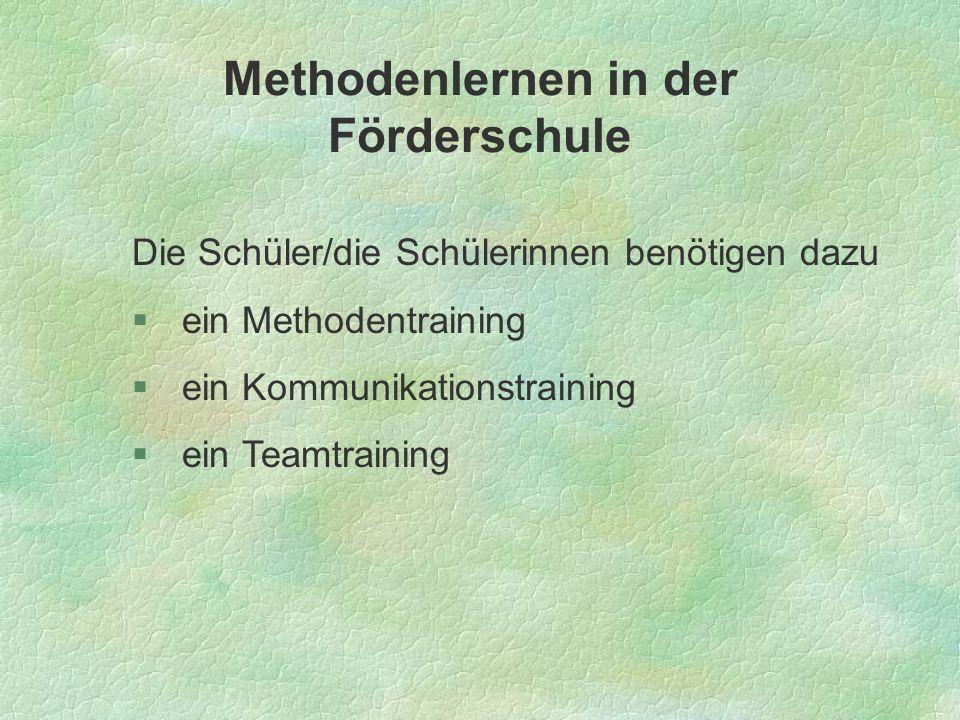 Methodenlernen in der Förderschule