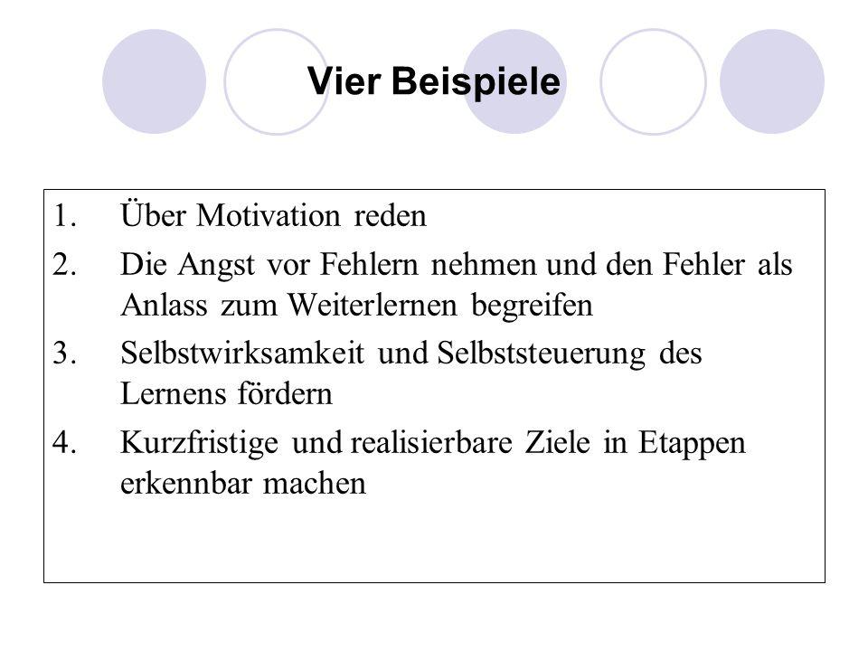 Vier Beispiele Über Motivation reden
