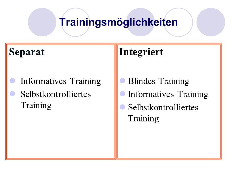 Trainingsmöglichkeiten