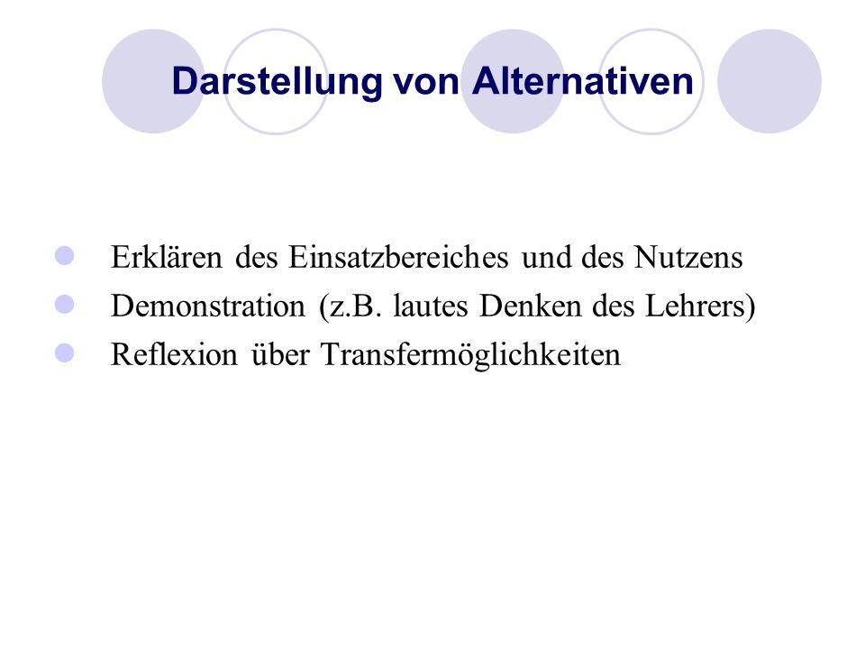 Darstellung von Alternativen