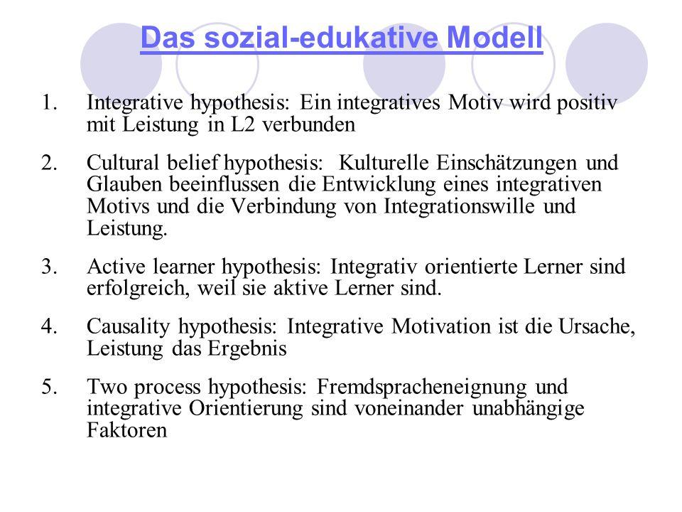 Das sozial-edukative Modell