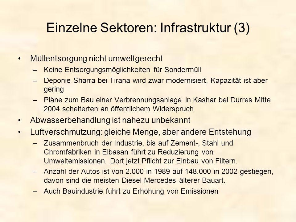 Einzelne Sektoren: Infrastruktur (3)