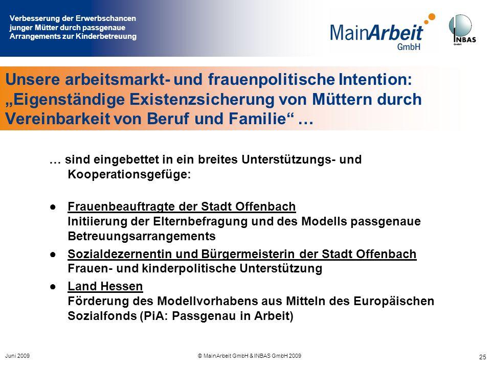 © MainArbeit GmbH & INBAS GmbH 2009