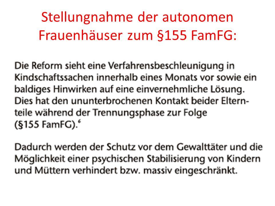 Stellungnahme der autonomen Frauenhäuser zum §155 FamFG:
