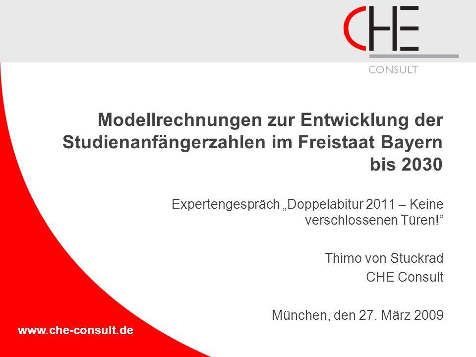 Modellrechnungen zur Entwicklung der Studienanfängerzahlen im Freistaat Bayern bis 2030