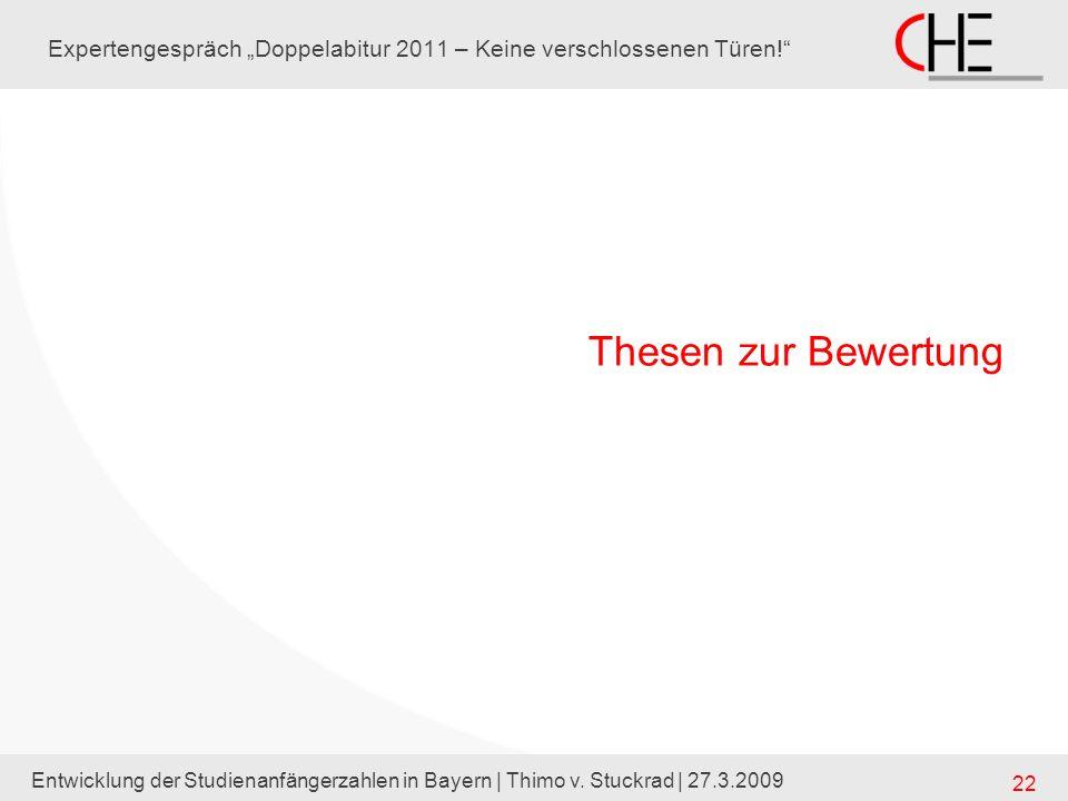 "Expertengespräch ""Doppelabitur 2011 – Keine verschlossenen Türen!"