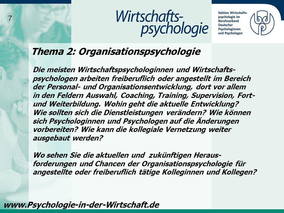 Thema 2: Organisationspsychologie