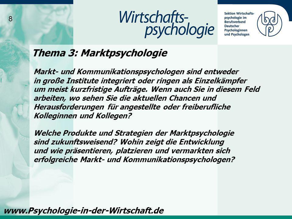 Thema 3: Marktpsychologie